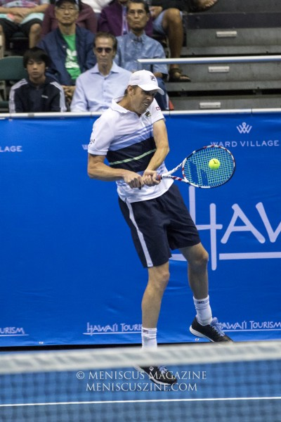 Like most of the field at this year's Hawaii Open, 2019 champion Sam Querrey used the tournament as an opportunity to prepare for the hardcourt swing leading up to the 2020 Australian Open. (photo by Kwai Chan / Meniscus Magazine)