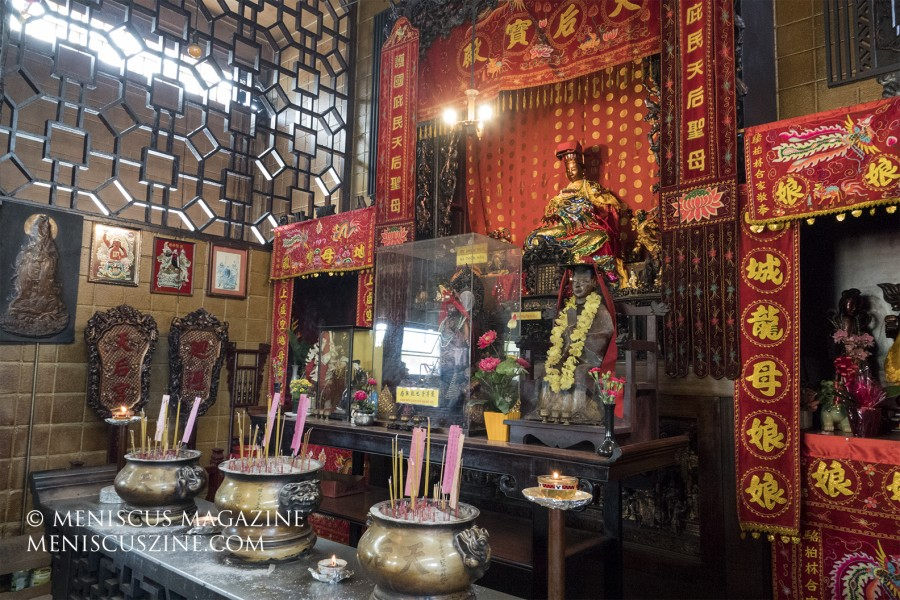 Tin Hau Temple, Lum Sai Ho Tong, 1315 River Street, Chinatown, Honolulu (photo by Kwai Chan / Meniscus Magazine)
