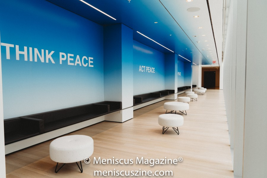 """PEACE is POWER"" (2019) Artist: Yoko Ono (photo by Asya Gorovits / Meniscus Magazine)"