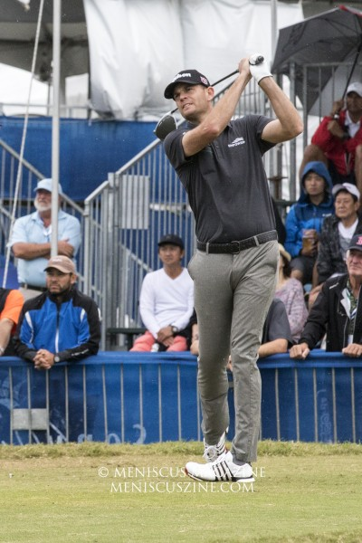 Brendan Steele of the United States headed into the final round of the 2020 Sony Open as the leader. He birdied the last three holes and finished at 12-under par., three shots ahead of second place. (photo by Kwai Chan / Meniscus Magazine)
