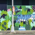 "Kim Sielbeck's mural, ""Blue Tiger,"" is located in Honolulu at the corner of Cooke and Pohukaina Streets."